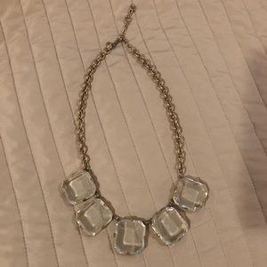 J Crew Large Crystal Necklace